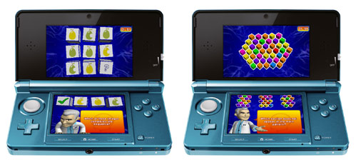 Puzzler Mind Gym 3DS game screens
